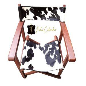 silla-director-con-piel-de-vaca-blanco-negro-3