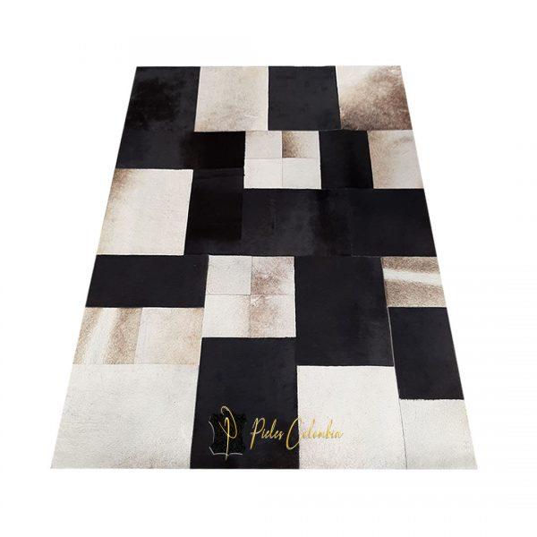 tapete-patchwork-piel-de-vaca-gris-negro