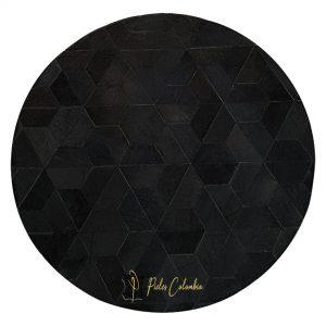 tapete-patchwork-circular-de-piel-de-vaca-negro