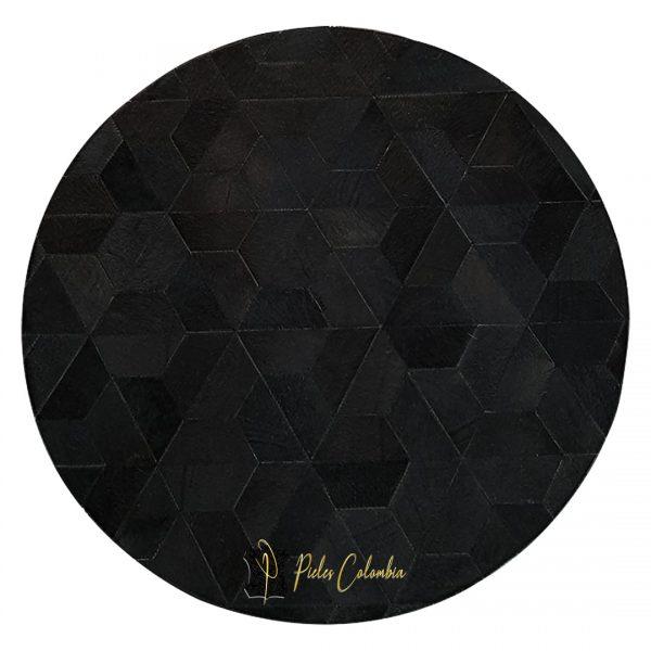 tapete-patchwork-redondo-de-piel-de-vaca-negro