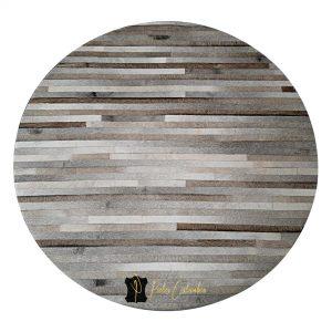 tapete-patchwork-circular-de-piel-de-vaca-gris