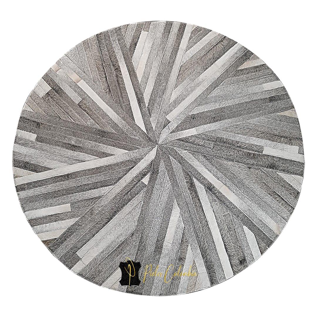 tapete-patchwork-redondo-de-piel-de-vaca-gris